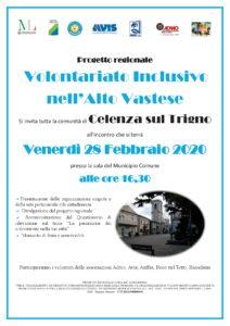 Locandina - Progetto Volontariato Inclusivo nell'Alto Vastese - CELENZA sul TRIGNO